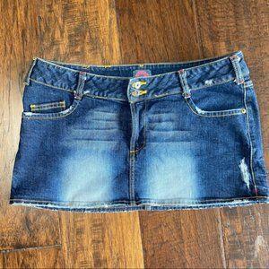 FIORUCCI Micro Mini Denim/Jeans Skirt